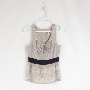 Gray ANTHROPOLOGIE FLOREAT tank top blouse 4